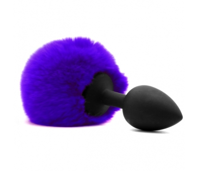 Анальный хвостик Fluffy Bunny Tail Anal Plug Purple