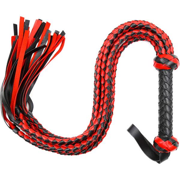 Плеть с 8-ю плетеными хвостами Black and Red