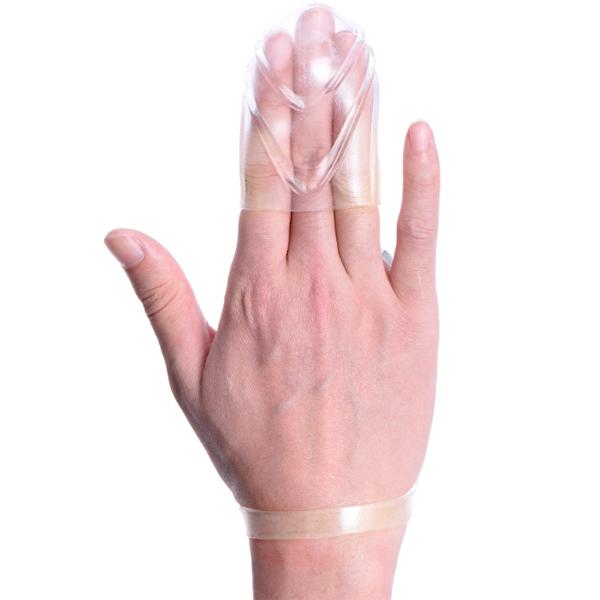 Вибронасадка на пальцы для мастурбации Orgasm Master Clear