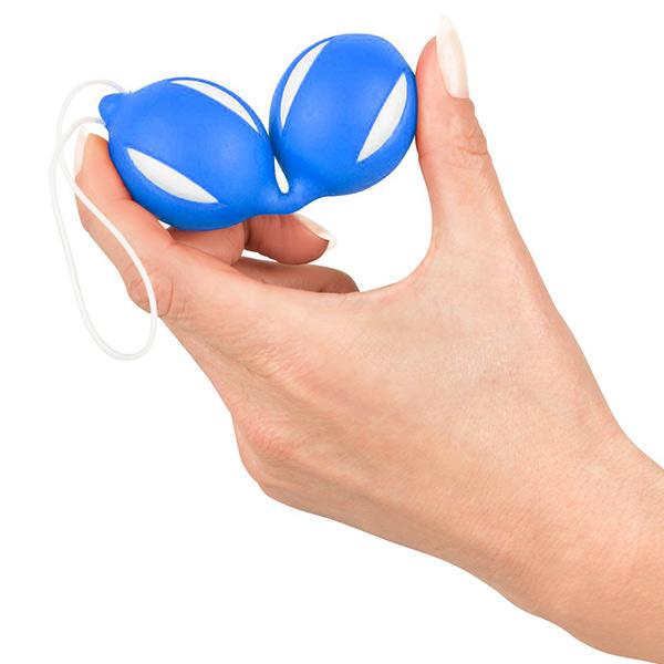 Вагинальные шарики из силикона Geisha Balls Blue