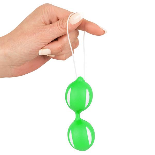 Вагинальные шарики из силикона Geisha Balls Green