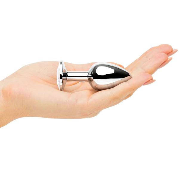 Анальное украшение Butt Plug Small Silver-Clear 7см*2,8см