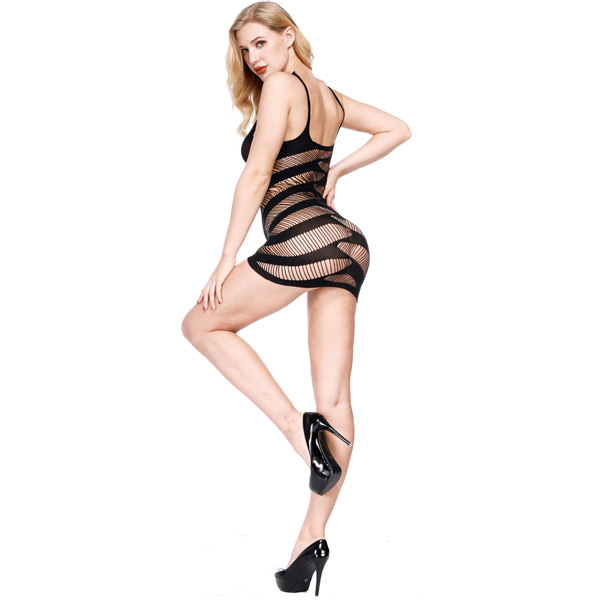 Платье с косыми линиями Sexy Fishnet Lingerie #084