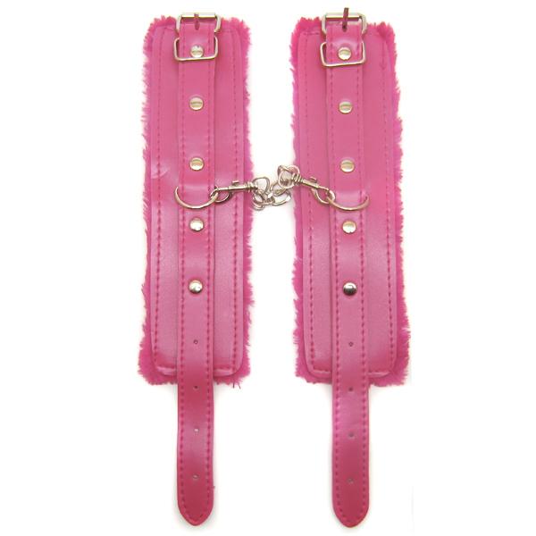 Наручники из экокожи Furry Cyffs Pink