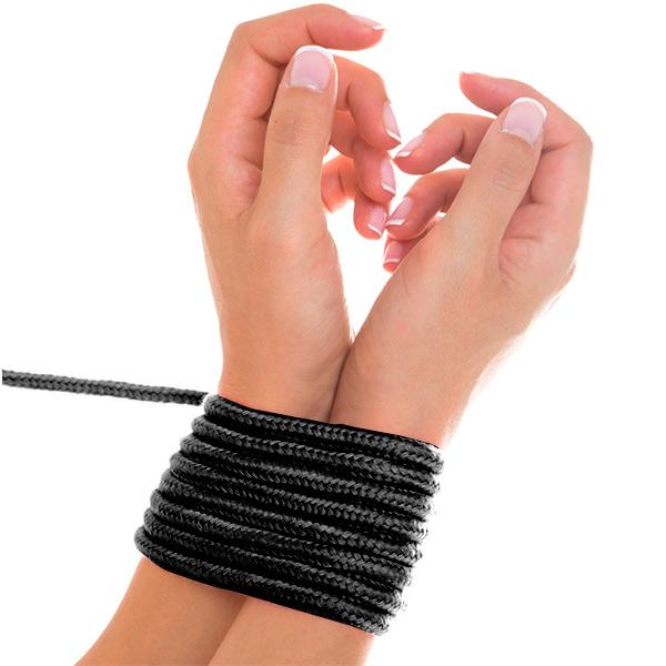 Верёвка для бондажа Shibari Rope Black 5м