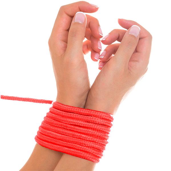 Верёвка для бондажа Shibari Rope Red 5м