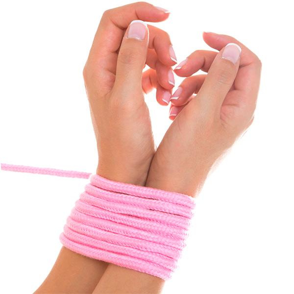 Верёвка для бондажа Shibari Rope Pink 5м