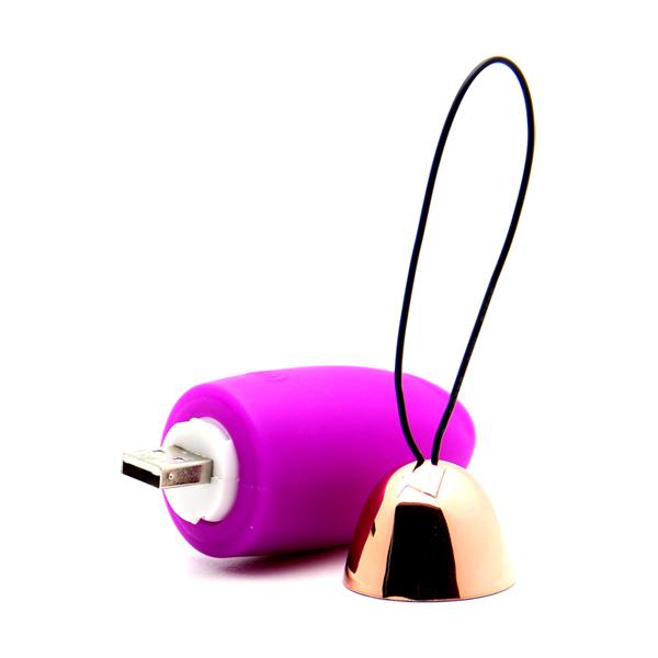 Мощное виброяйцо из силикона Spark of Love Vibrator Violet
