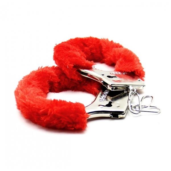 Аксессуарные наручники Fluffy Cuffs Red