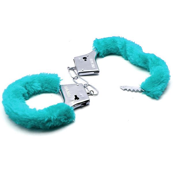 Аксессуарные наручники Fluffy Cuffs Aqua