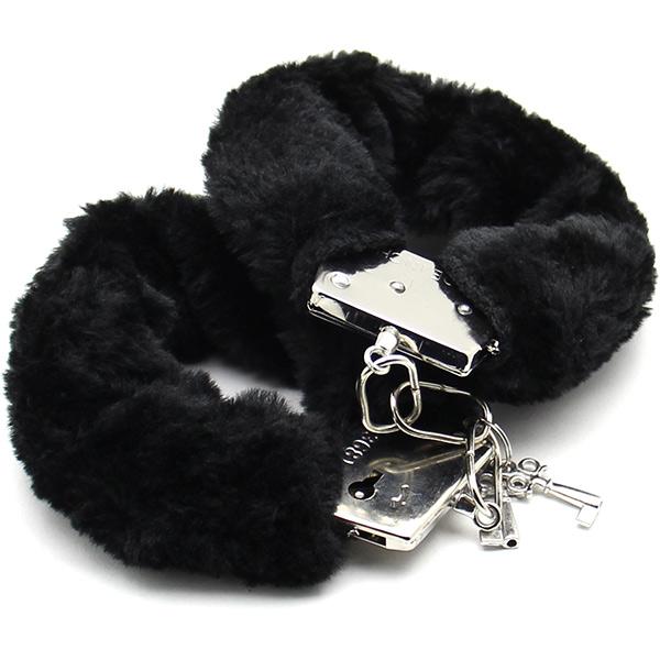 Наручники с черным мехом Furry Cuffs Black