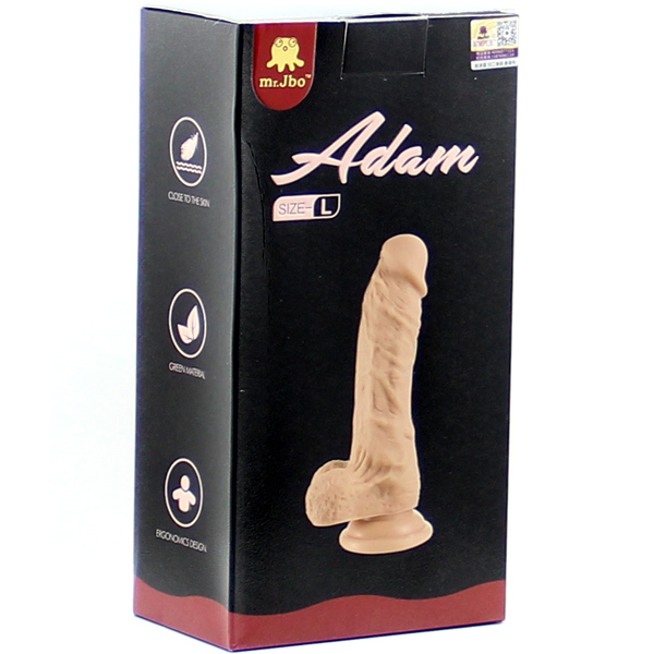 Реалистичный фаллос с мошонкой Adam L 16,5 см