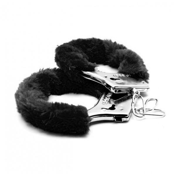 Аксессуарные наручники Fluffy Cuffs Black