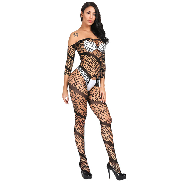 Чулок на тело с косыми линиями Sexy Fishnet Lingerie #065