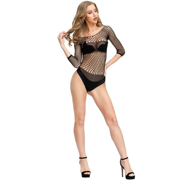 Боди из черной сеточки Sexy FishNet Lingerie #331