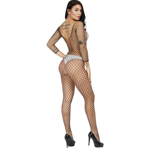 Кэтсьюит из сетки с длинными рукавами Sexy Fishnet Lingerie #256