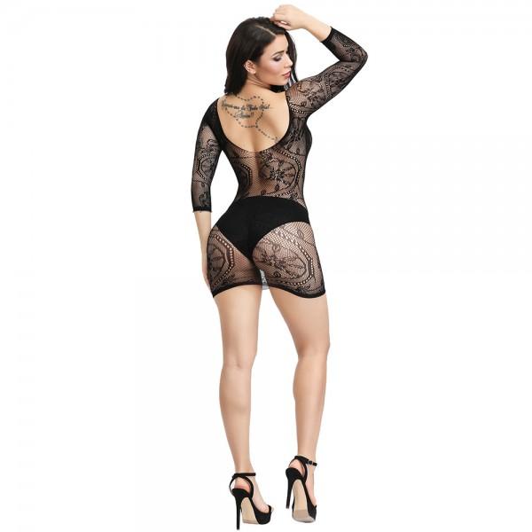 Секси платье с кружевным узором Sexy Fishnet Lingerie #320