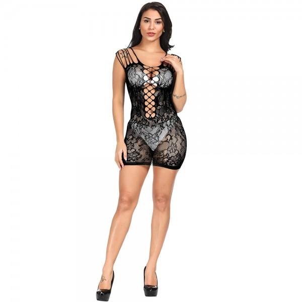 Секси платье с цветочным узором Sexy Fishnet Lingerie #100