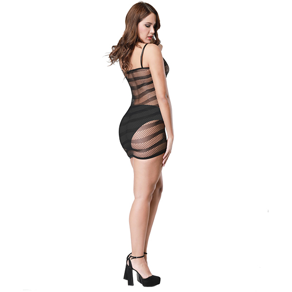 Секси платье на лямках с полосками Sexy Fishnet Lingerie #094