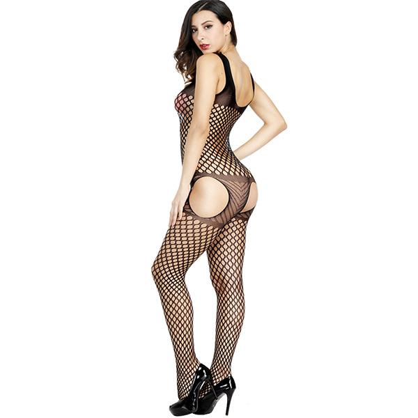 Кэтсьюит с имитацией чулок Sexy Fishnet Lingerie #291
