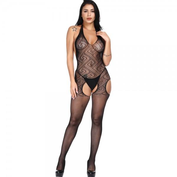 Чулок на тело с открытой спинкой Sexy Fishnet Lingerie #306