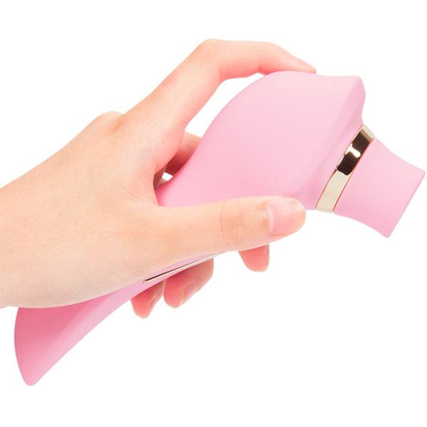 Вакуумный вибростимулятор клитора с подогревом Fanala Tina Pink