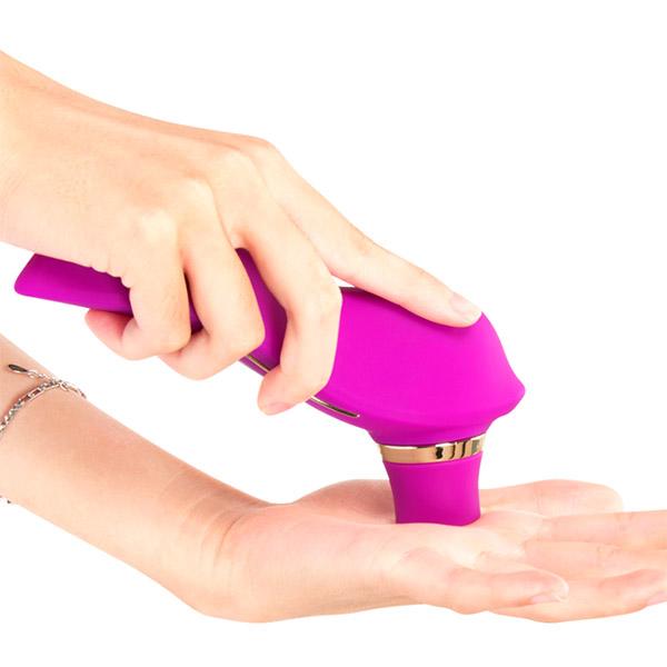 Вакуумный вибростимулятор клитора с подогревом Fanala Tina Purple