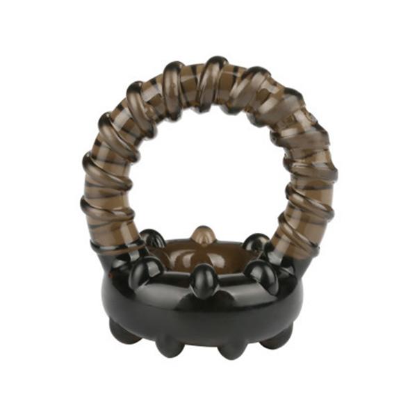 Гелевое кольцо для утяжки пениса и мошонки P Ring Black