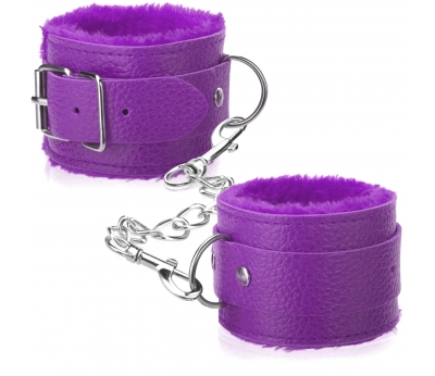 Наручники из экококожи Fluffy Cuffs Purple