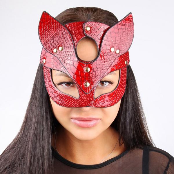 Эротическая маска на глаза Masquerade Red Crock Cat Full