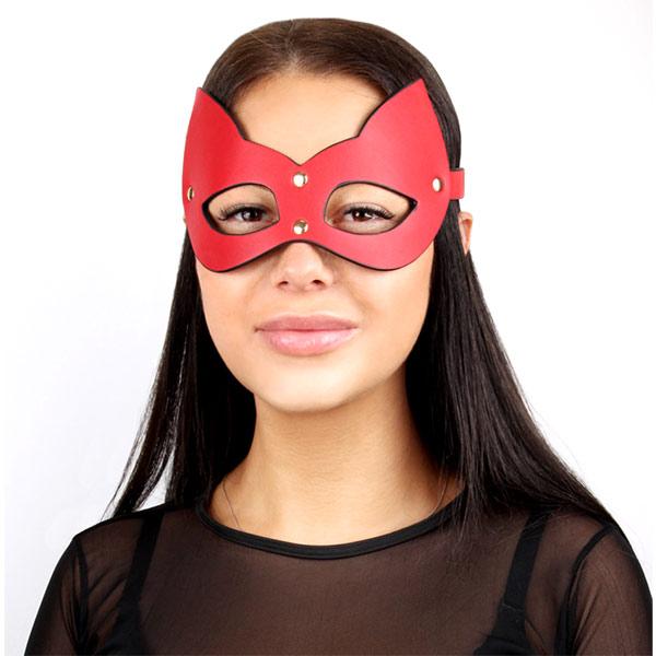 Эротическая маска на глаза Masquerade Kitty Red
