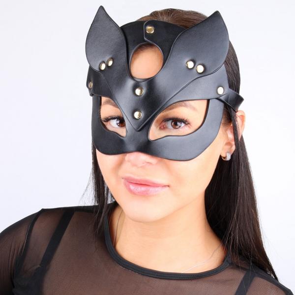 Эротическая маска на глаза Masquerade Black Cat Full