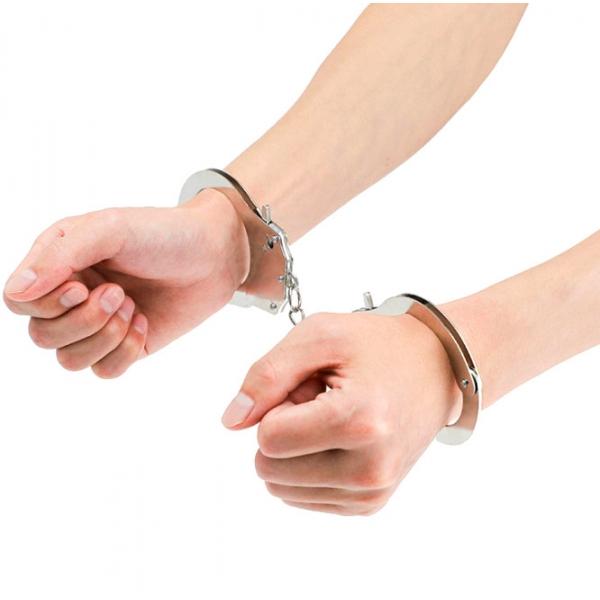 Стальные наручники с хромированным покрытием Steel Cuffs