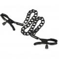 Прищепки на соски с цепью Nipple Chain Black