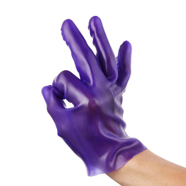 Перчатка для мастурбации и анальной стимуляции Fist It Purple