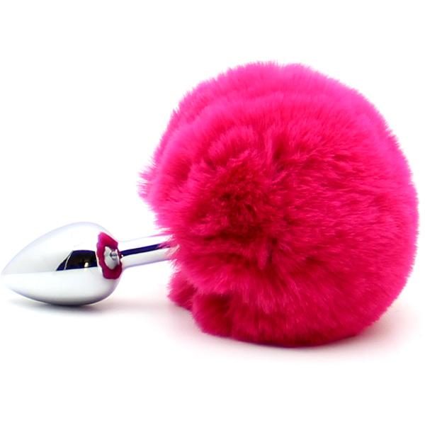 Анальная пробка с заячьим хвостом Rabbit Tail Pink
