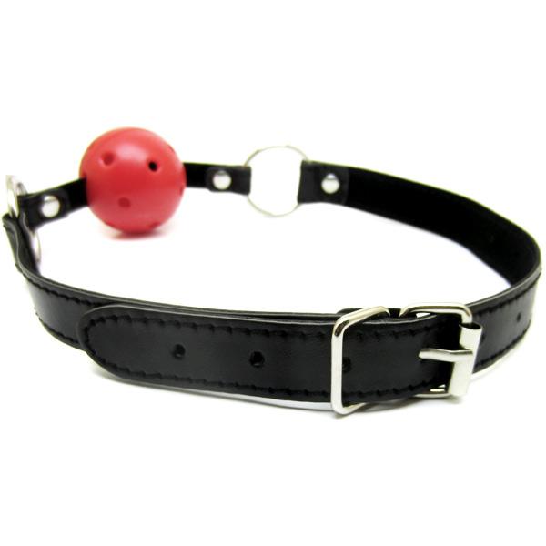 Кляп красный из кожезаменителя Fetish Ball Gag Red