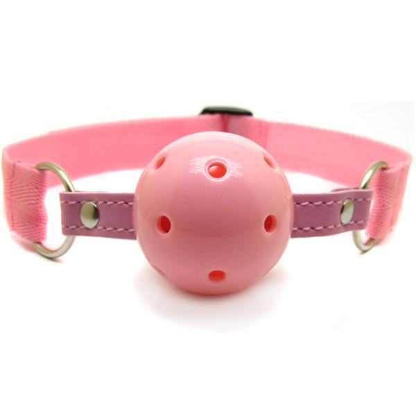 Шар-кляп на нейлоновом ремешке Nylon Ball Gag Pink