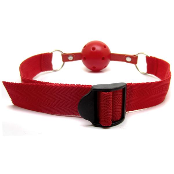 Шар-кляп на нейлоновом ремешке Nylon Ball Gag Red