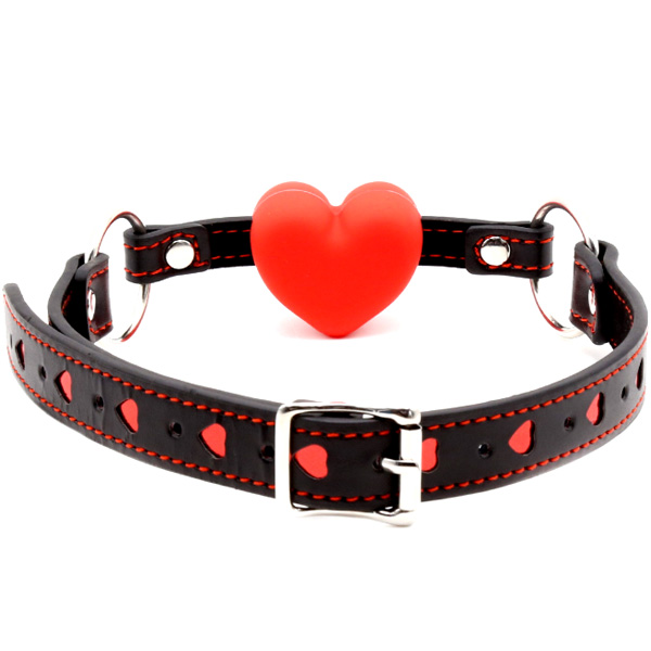 Кляп с силиконовым сердечком Silicone Heart Gag