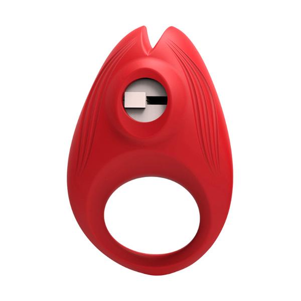 Эрекционное кольцо с вибратором Red Flame