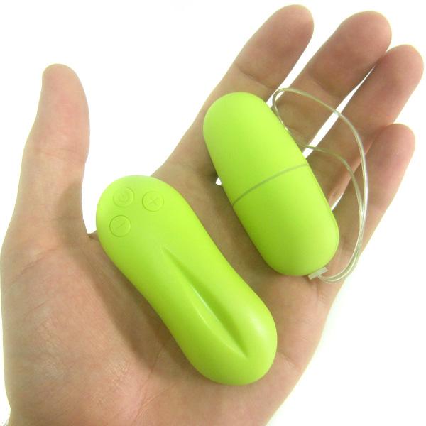 Виброяйцо с пультом ДУ Vibrating Egg Green