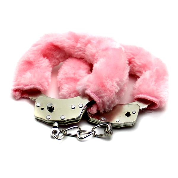 Стальные наручники с махом Love Cuffs Pink